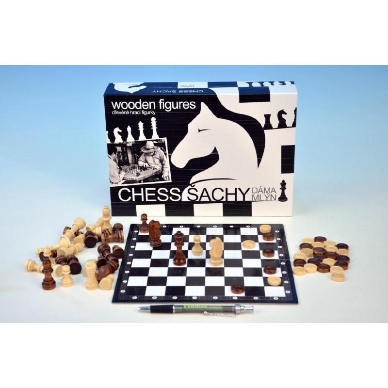 Šachy, dáma a mlýn