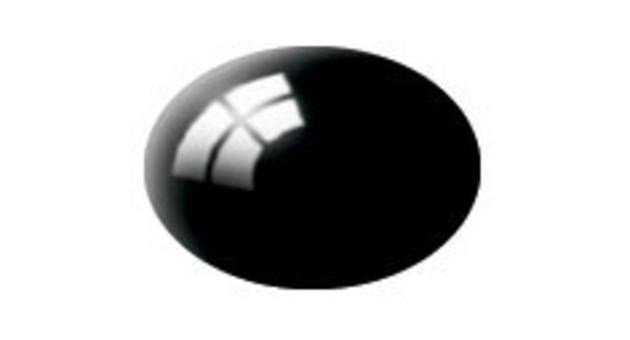 Barva Revell aqua lesklá - dehtově černá 07  * *