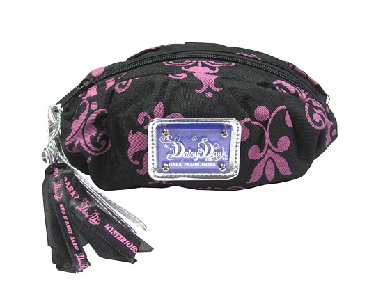 Taška na make-up s fialovými ornamenty