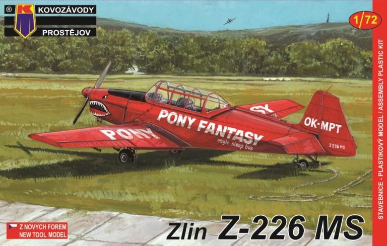 Slepovací model Kovozávody 1:72 Zlin Z-226MS *