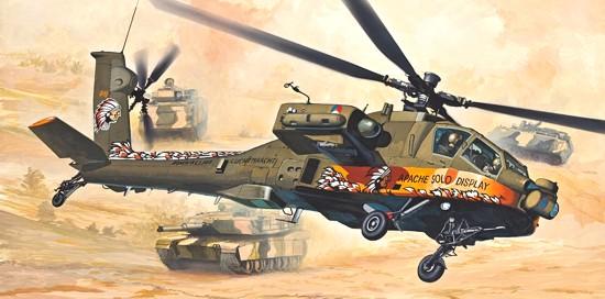 Model Easykit Revell 1:100 Vrtulník AH - 64 Apache *