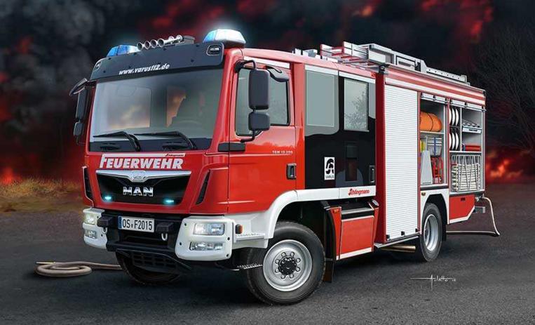 Slepovací model Revell 1:24 Schlingmann HLF 20 (MAN TGM Euro 6)  *