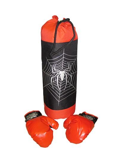 Boxovací pytel  s pavoukem a rukavice