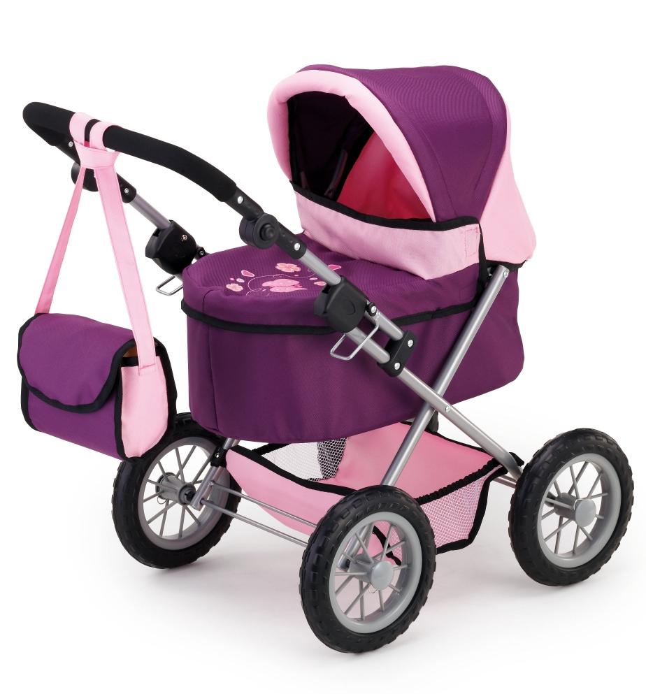 Kočárek Trendy- fialový/růžový *