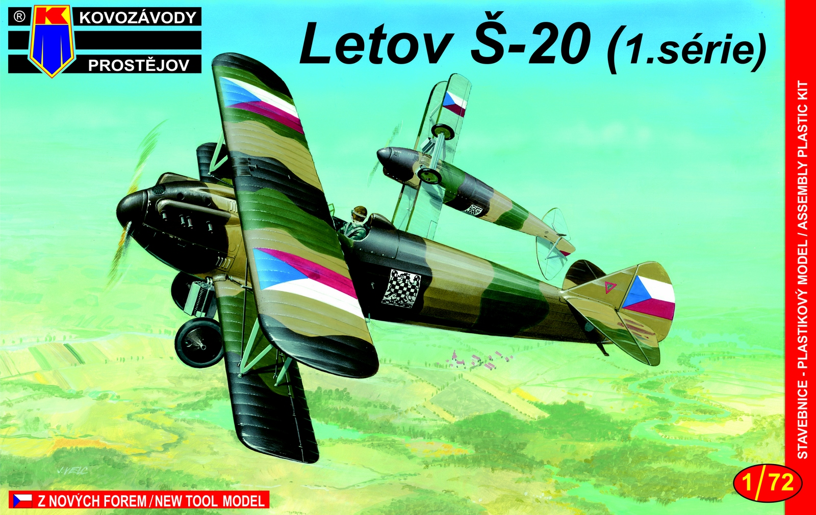 Slepovací model Kovozávody 1:72 Letov Š-20 ranná verze/Early *