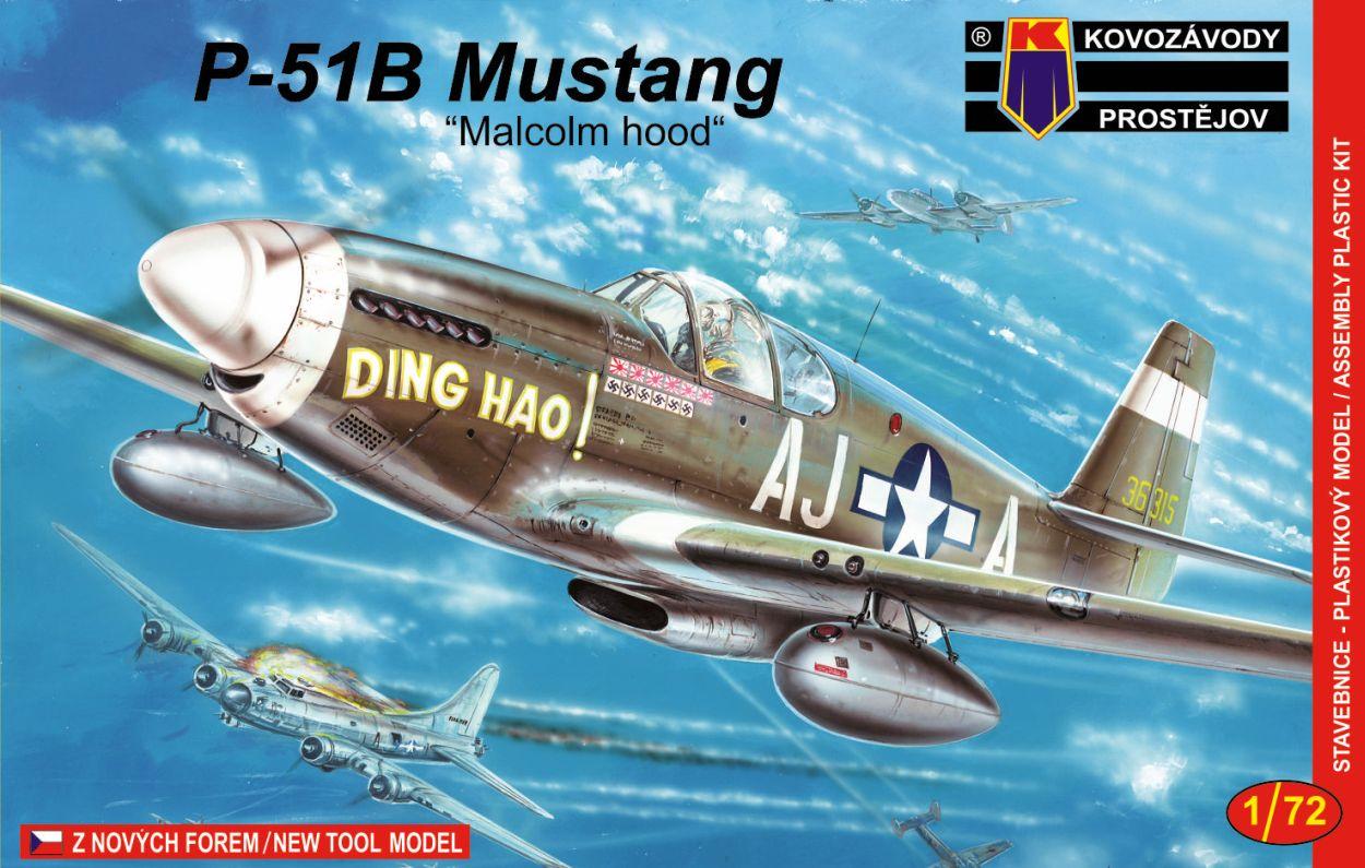 Slepovací model Kovozávody 1:72 P-51B Mustang Malcolm canopy *