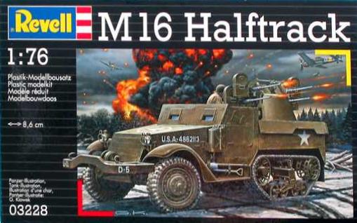 Slepovací model Revell 1:76 M16 Halftrack *