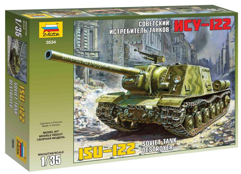 Slepovací model Zvezda 1:35 ISU-122 *