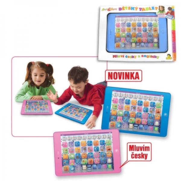 Tablet růžový - elektronická naučná tabulka