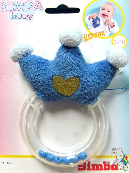 Chrastítko Simba korunka modrá