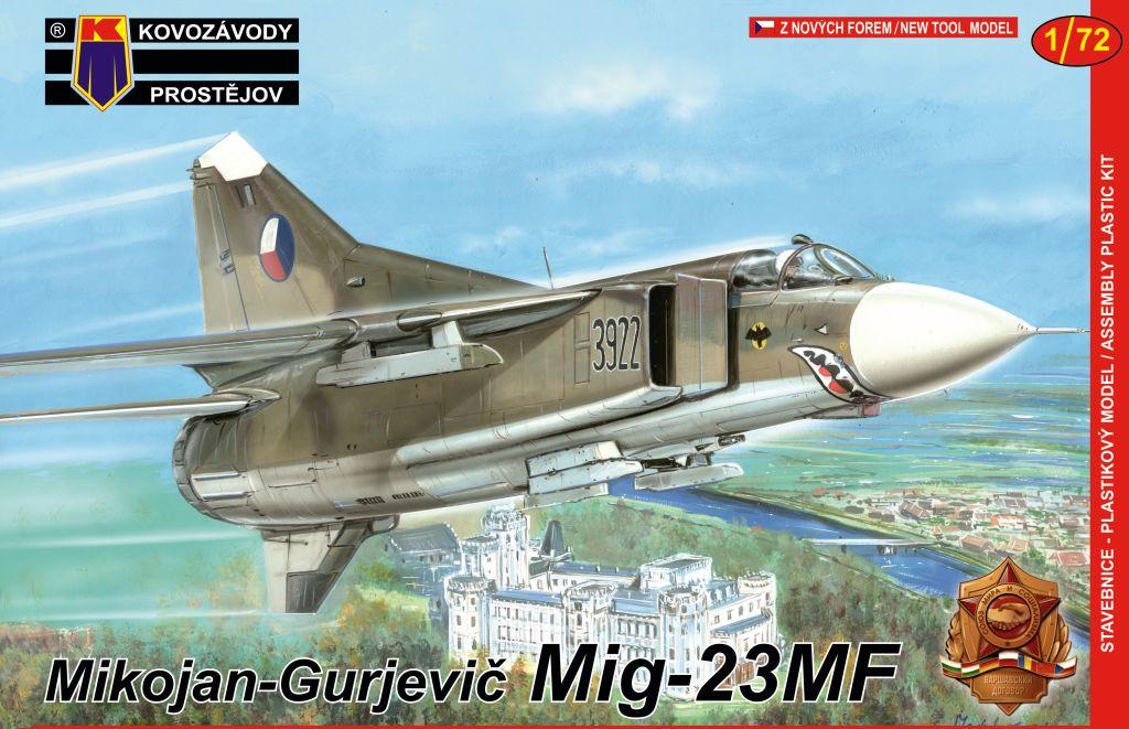 Slepovací model Kovozávody 1:72 Mig-23MF CzAF, GDR, Poland *