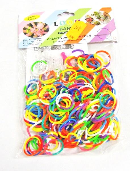 Výroba náramků z gumiček Rainbow 300ks dvoubarevné
