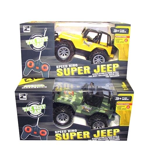 RC Jeep s ovládáním na vysílačku - žlutá barva