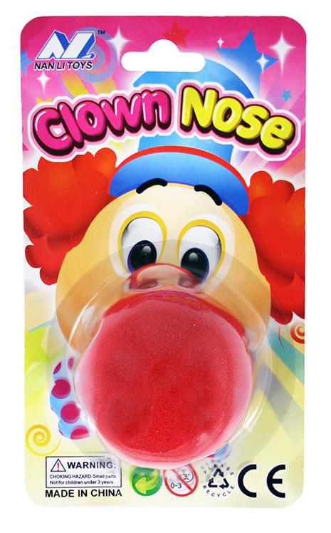 Klaunský nos z molitanu *