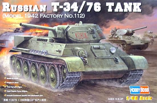 Slepovací model Hobby Boss 1:48 Russian tank T34/76 1942  *