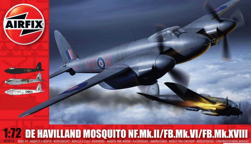 Slepovací model Airfix 1:72 de Havilland Mosquito NF.II/FB.VI/MkXVIII *