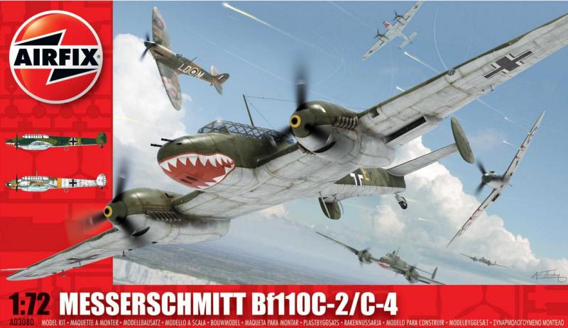 Slepovací model Airfix 1:72 Messerschmitt Bf110C-2/C-4 *