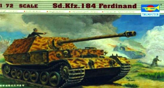 Slepovací model  Trumpeter 1:72 německé samohybné dělo SdKfz.184 Ferdinand *