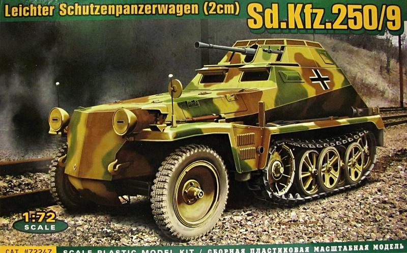 Slepovací model ACE 1:72  Lehký obrněný vůz Sd.Kfz. 250/9 *