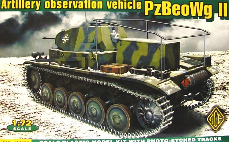 Slepovací model ACE 1:72  Obrněný pozorovací vůz dělostřelectva PzBeo Wg II *