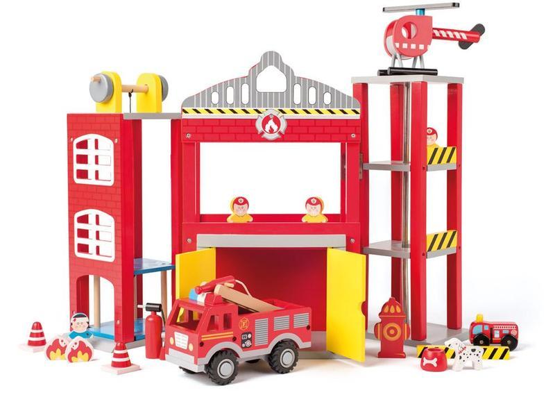 Velká hasičská stanice s autíčky a doplňky * *