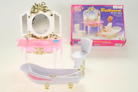 Nábytek Glorie pro panenky Barbie - Koupelna *