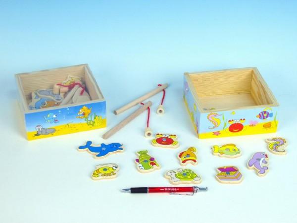 Dřevěná hračka - chytání rybiček
