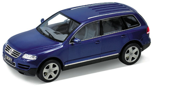 Kovový model Welly 1:24 Volkswagen Touareg - modrý * *